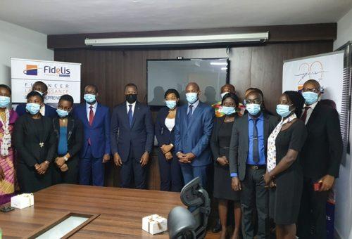 Cérémonie de présentation de vœux du personnel de Fidelis Finance Côte d'Ivoire à l'Administrateur Directeur Général du groupe